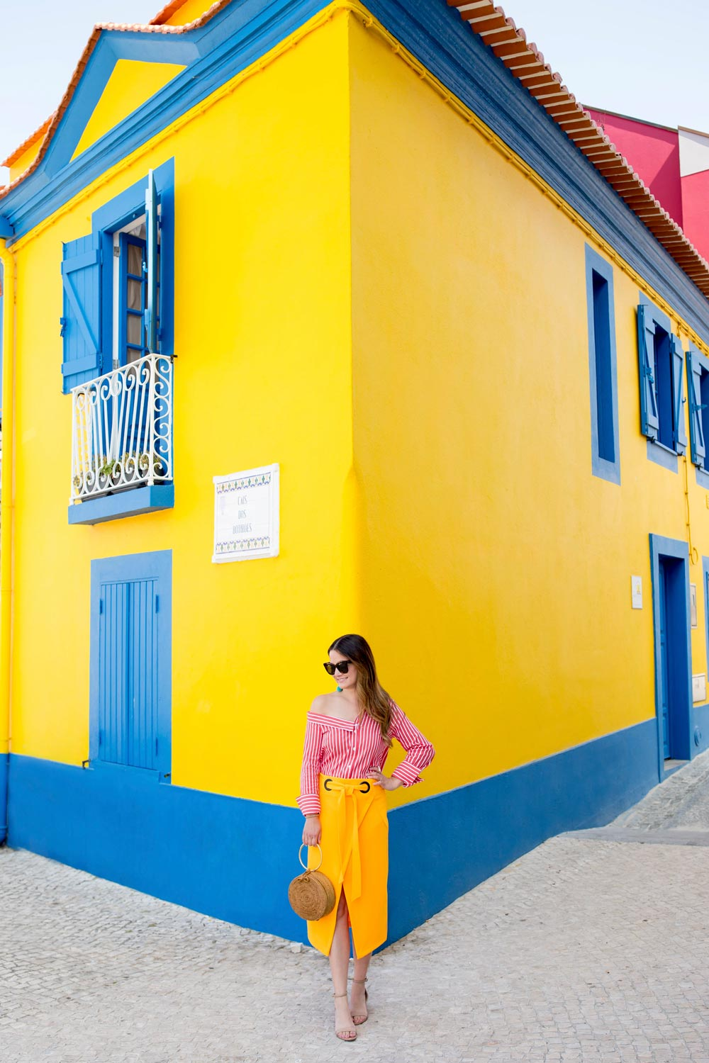 Aveiro Portugal Yellow Blue Building