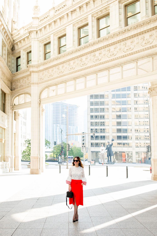 Chicago Tribune Building Photoshoot