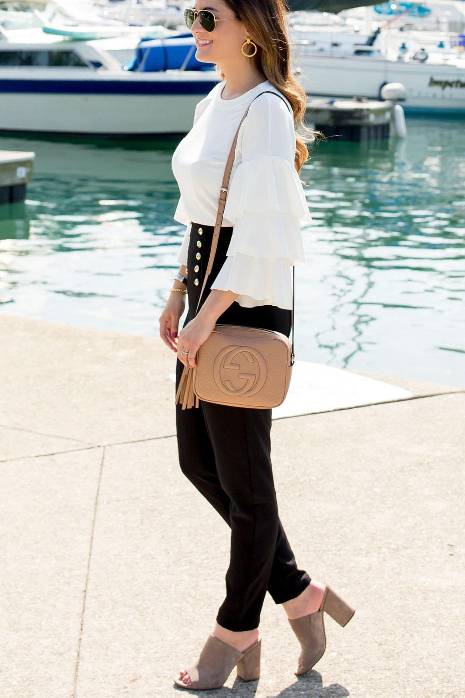 Ivory Ruffle Sleeve Sweater