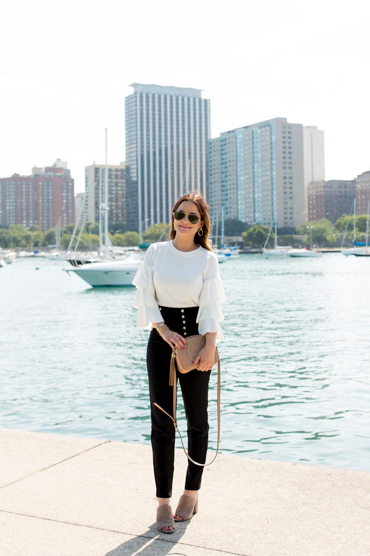 Jennifer Lake Ruffle Sleeve Sweater
