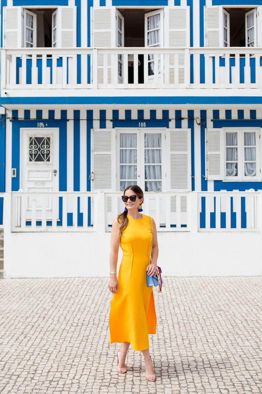 Jennifer Lake Yellow Dress Portugal