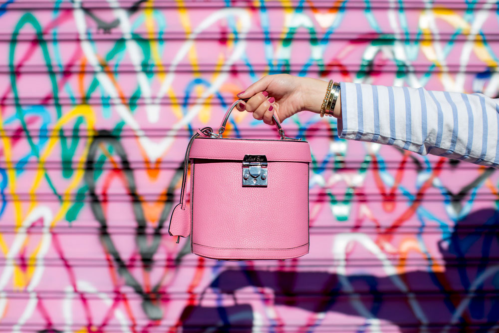 Mark Cross Pink Benchley Bag
