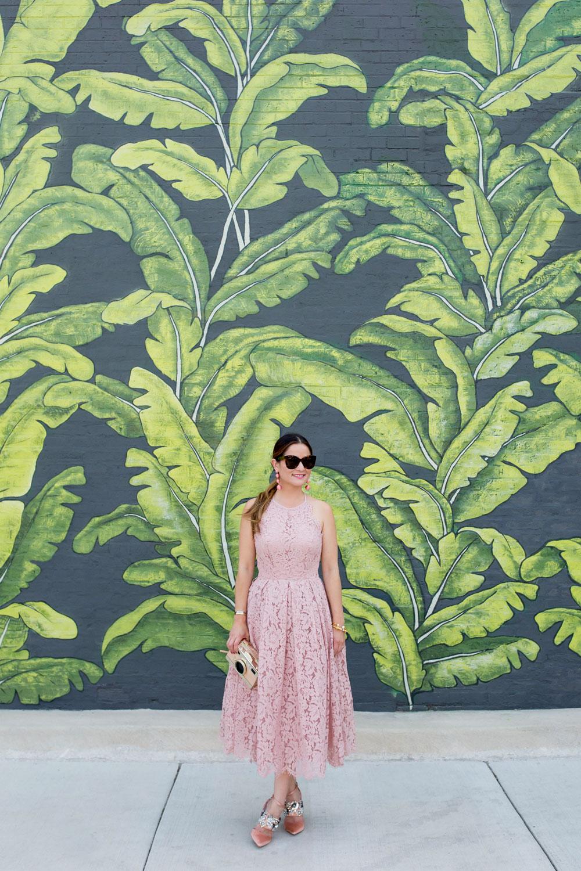 Palm Leaf Mural Chicago