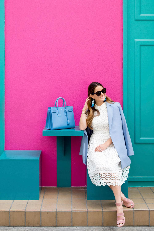 Saint Laurent Sac de Jour Blue Bag