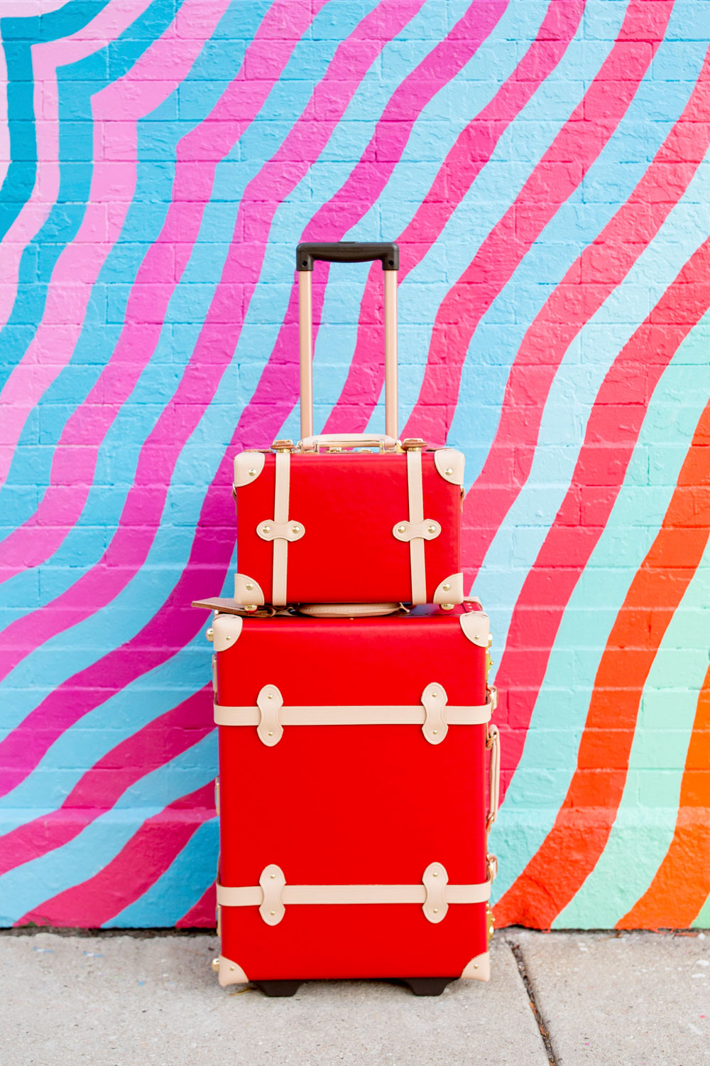 Steamline Luggage Red Carry On