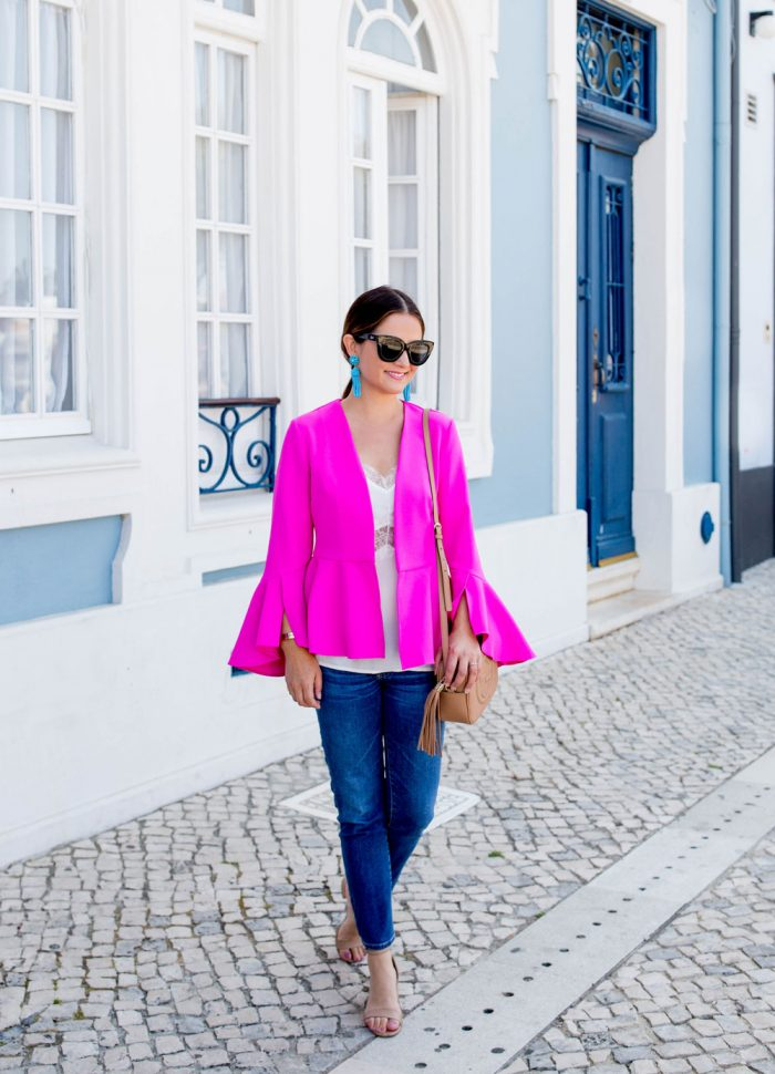 Bright Pink Bell Sleeve Jacket | Aveiro, Portugal