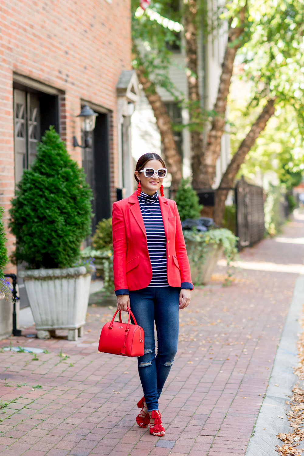 Two Penny Blue Red Blazer