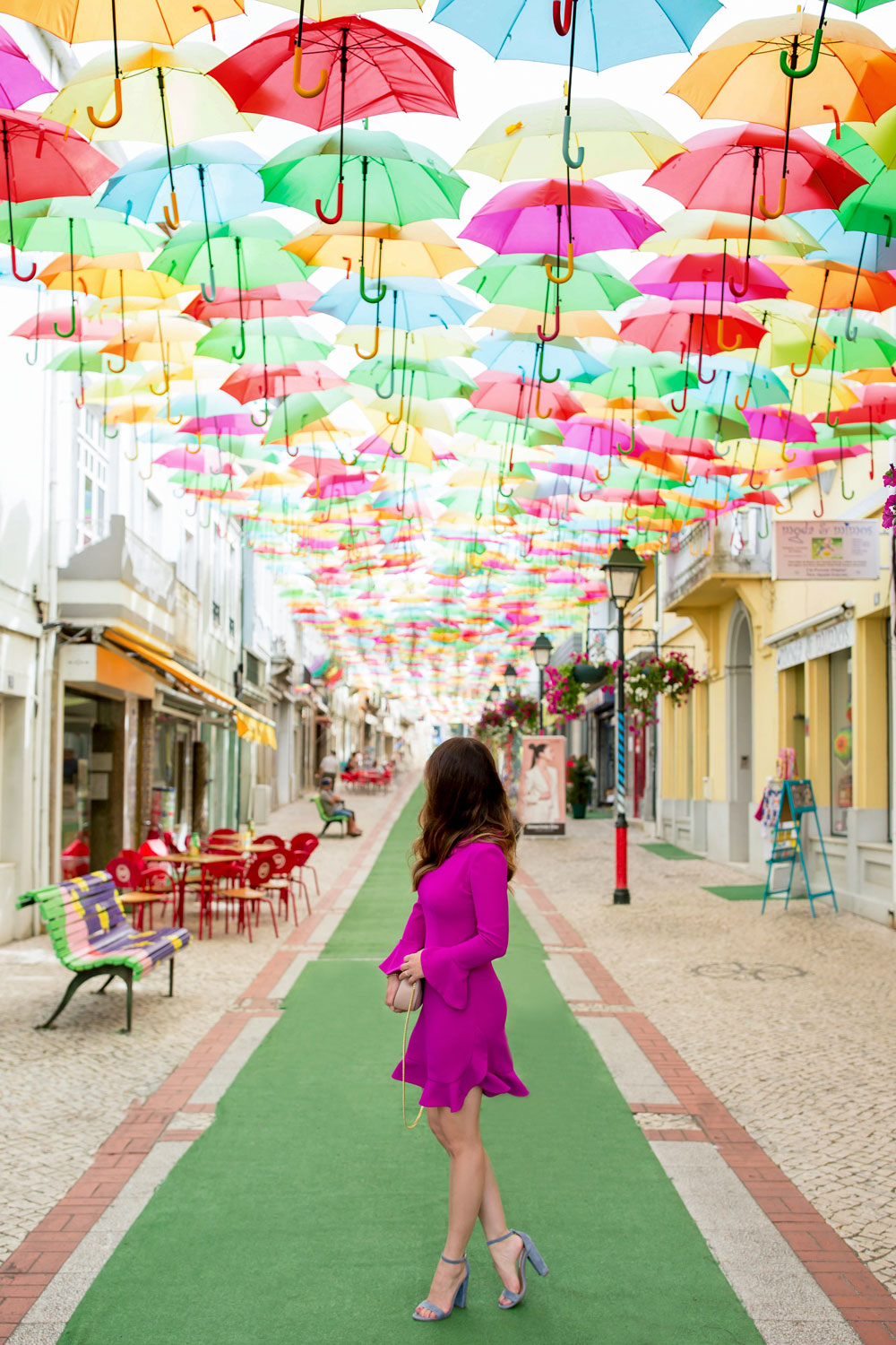 Umbrella Installation Agueda Portugal