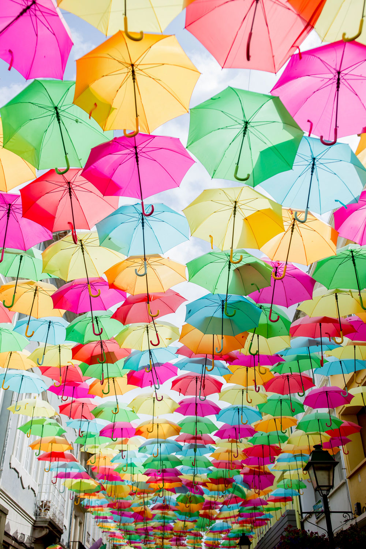 Umbrella Street Art Portugal