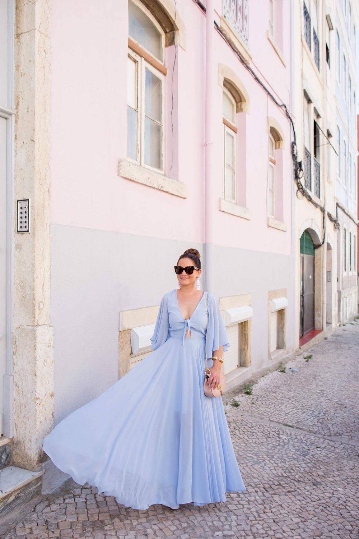 Yumi Kim Pastel Blue Maxi Dress