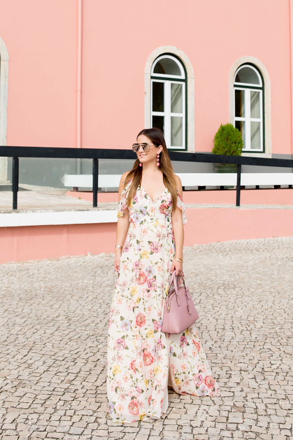 Yumi Kim Ruffle Floral Maxi Dress In Cascais Portugal