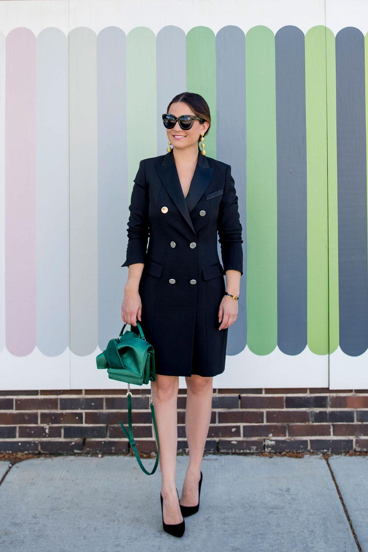 Affordable Black Tuxedo Dress