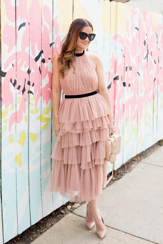 ASOS Blush Pink Tulle Dress
