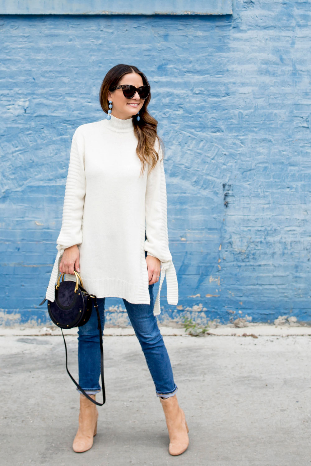 Ivory Chunky Knit Turtleneck Sweater