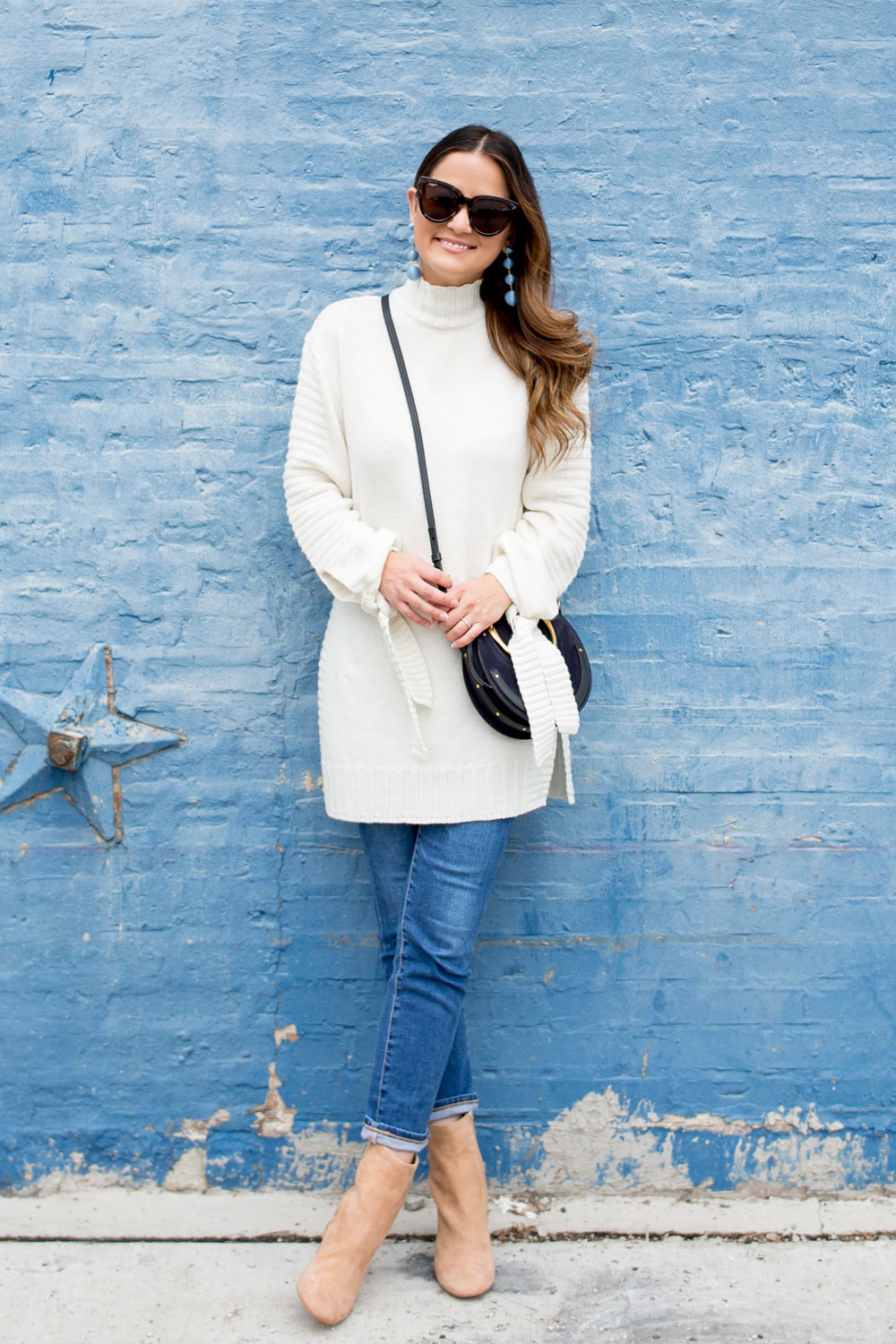 Ivory Turtleneck Sweater Tunic
