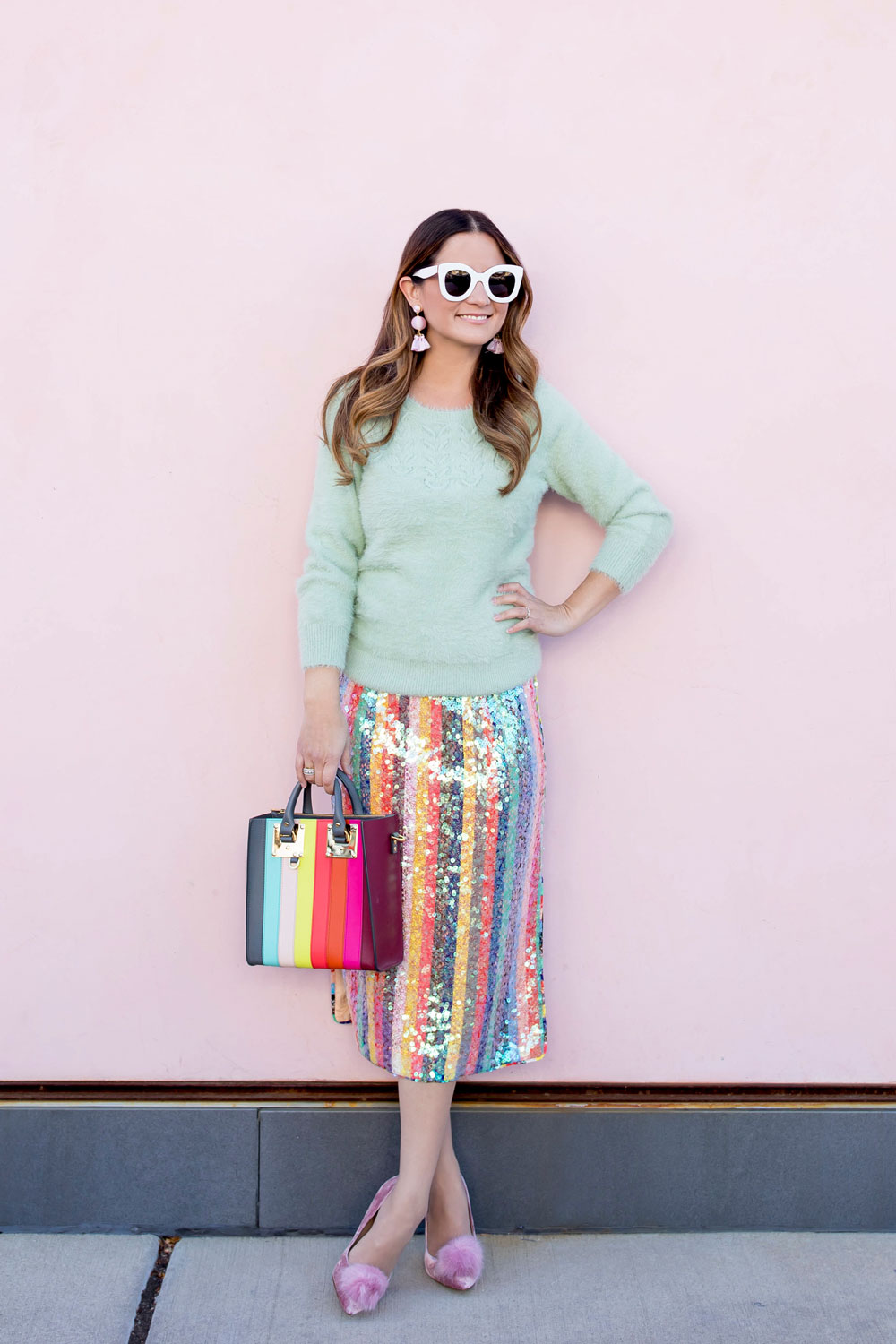 Jennifer Lake Anthropologie Sequin Skirt