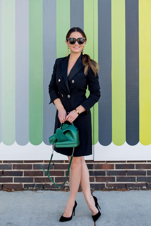 Jennifer Lake Black Tuxedo Dress