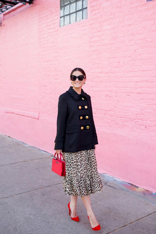 Kate Spade Leopard Dress Red Bag