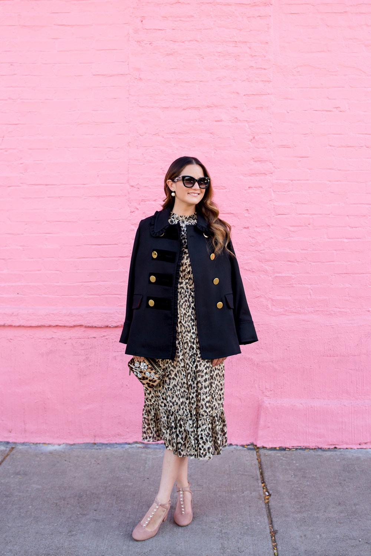 Kate Spade Leopard Midi Dress