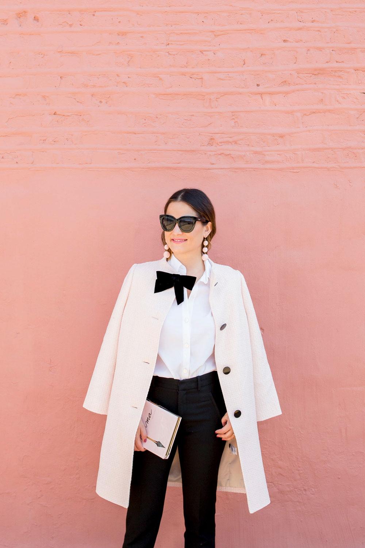 Kate Spade Pink Bow Coat