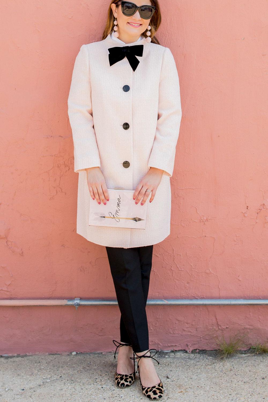 Kate Spade Pink Tweed Coat