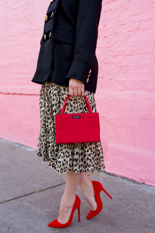 Kate Spade Red Nylon Sam Bag
