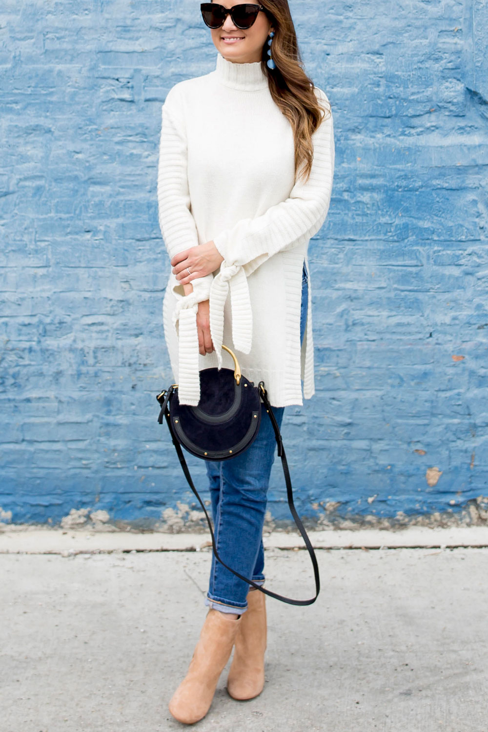 Nordstrom Long Ivory Turtleneck Sweater