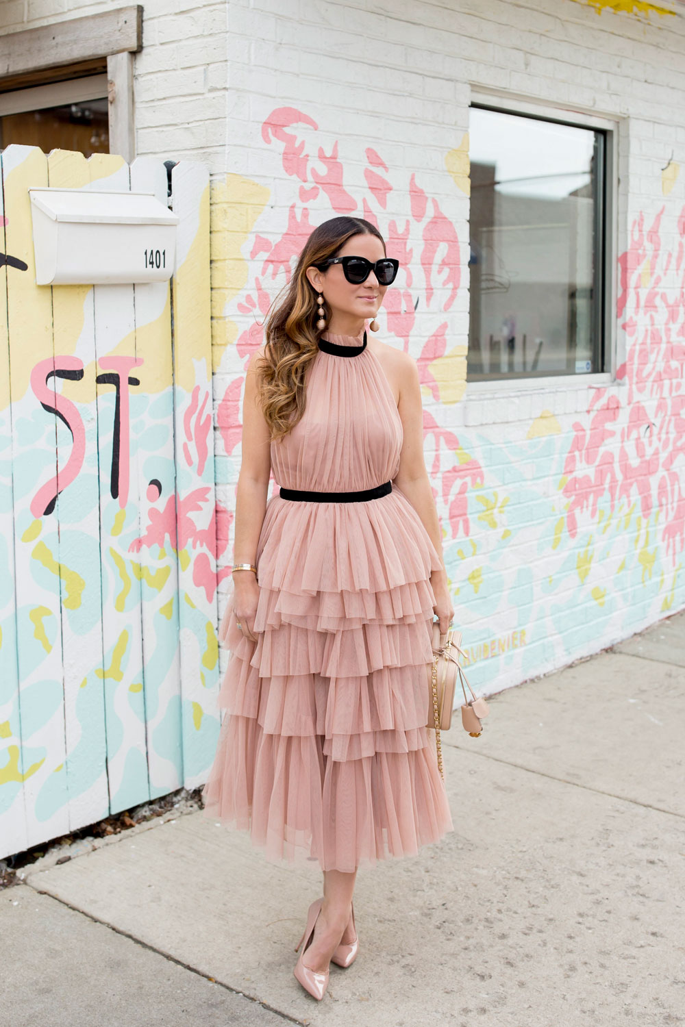 Pink Tulle Tiered Dress