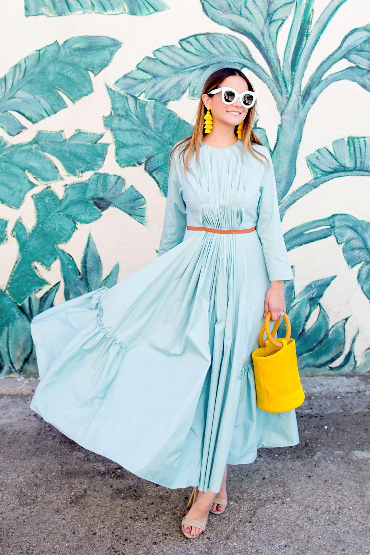 Roksanda Ilincic Mint Green Midi Dress