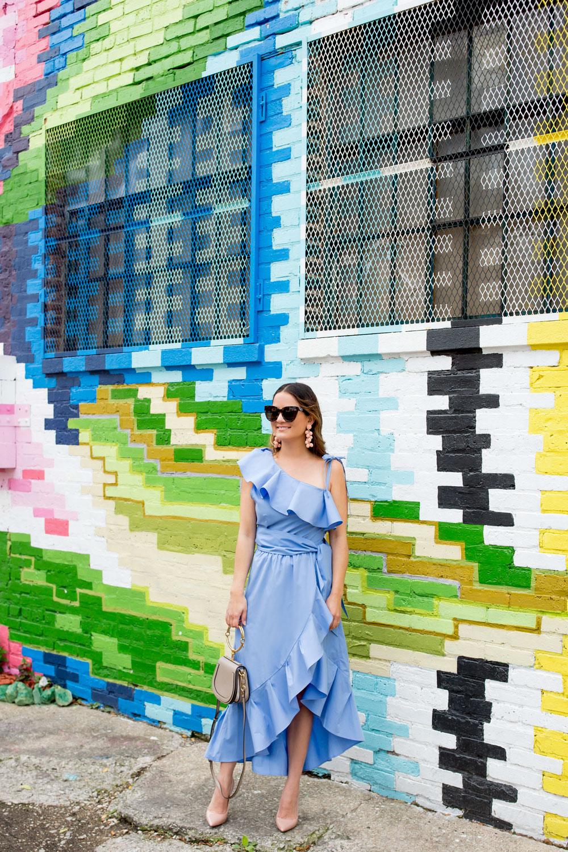 Style Mafia Blue Ruffle Dress