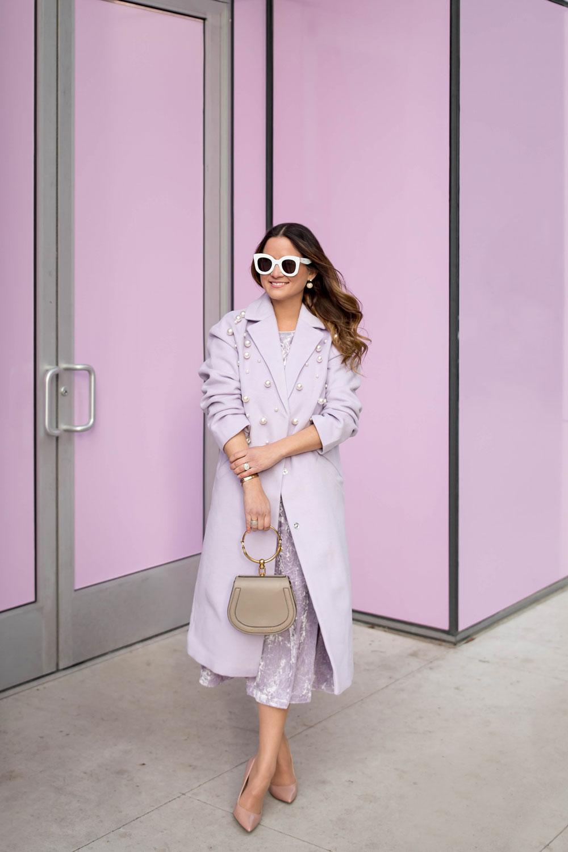 ASOS Purple Pearl Coat