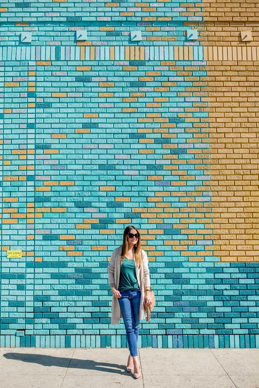 Colorful Brick Wall Santa Monica