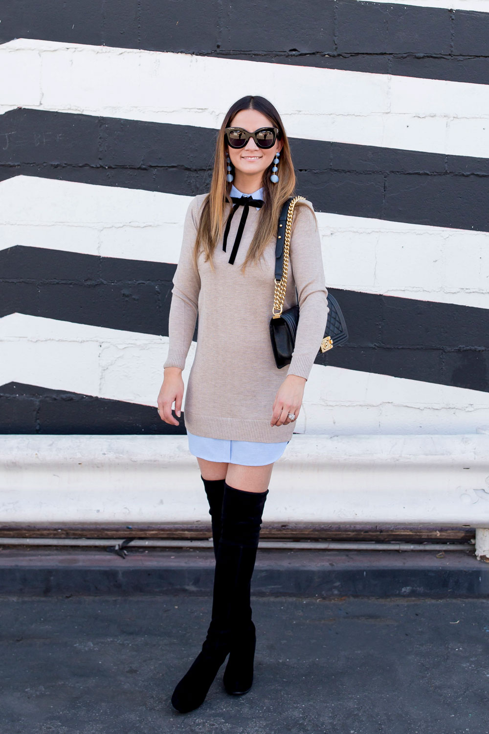 English Factory Sweater Shirtdress