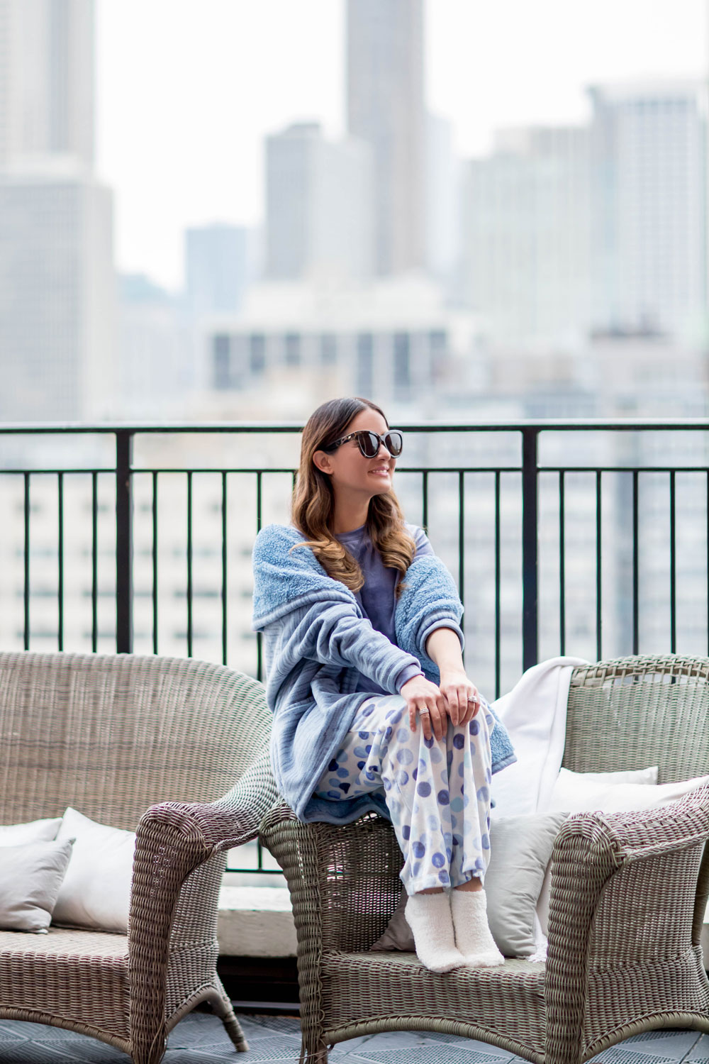 HUE Blue Bubbles Sleepwear