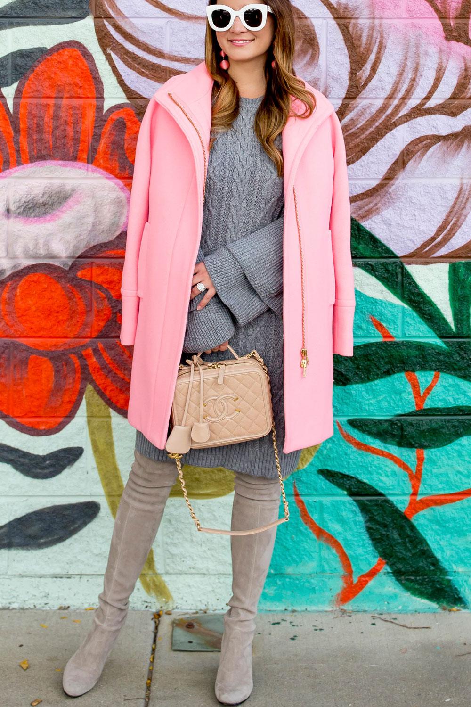 J Crew Pink Cocoon Coat