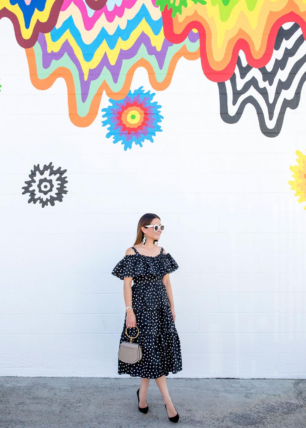 Jen Stark Multicolor Mural Los Angeles