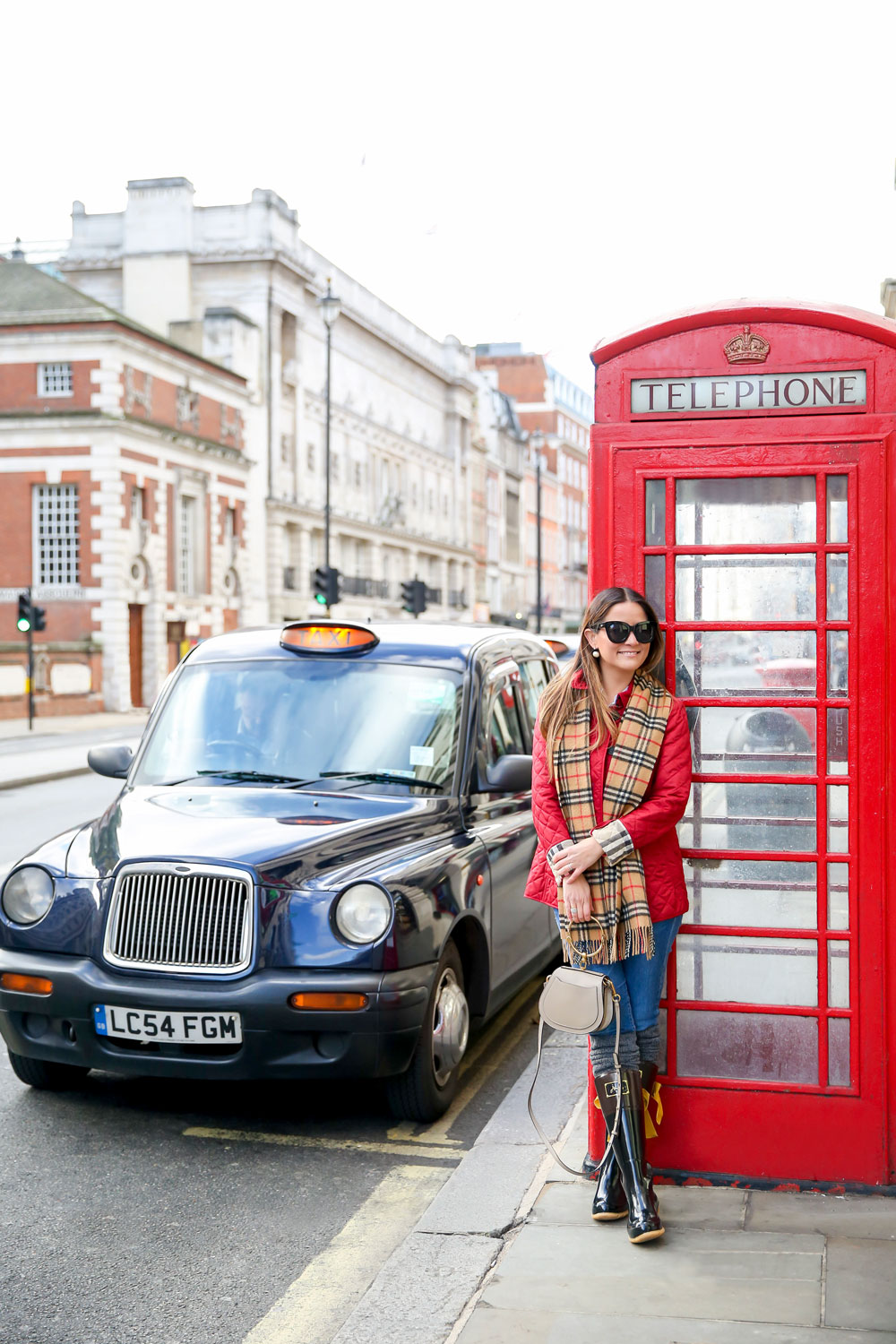 London Red Phone Box Fashion Blogger