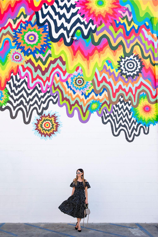 Multicolor Drip Mural Los Angeles