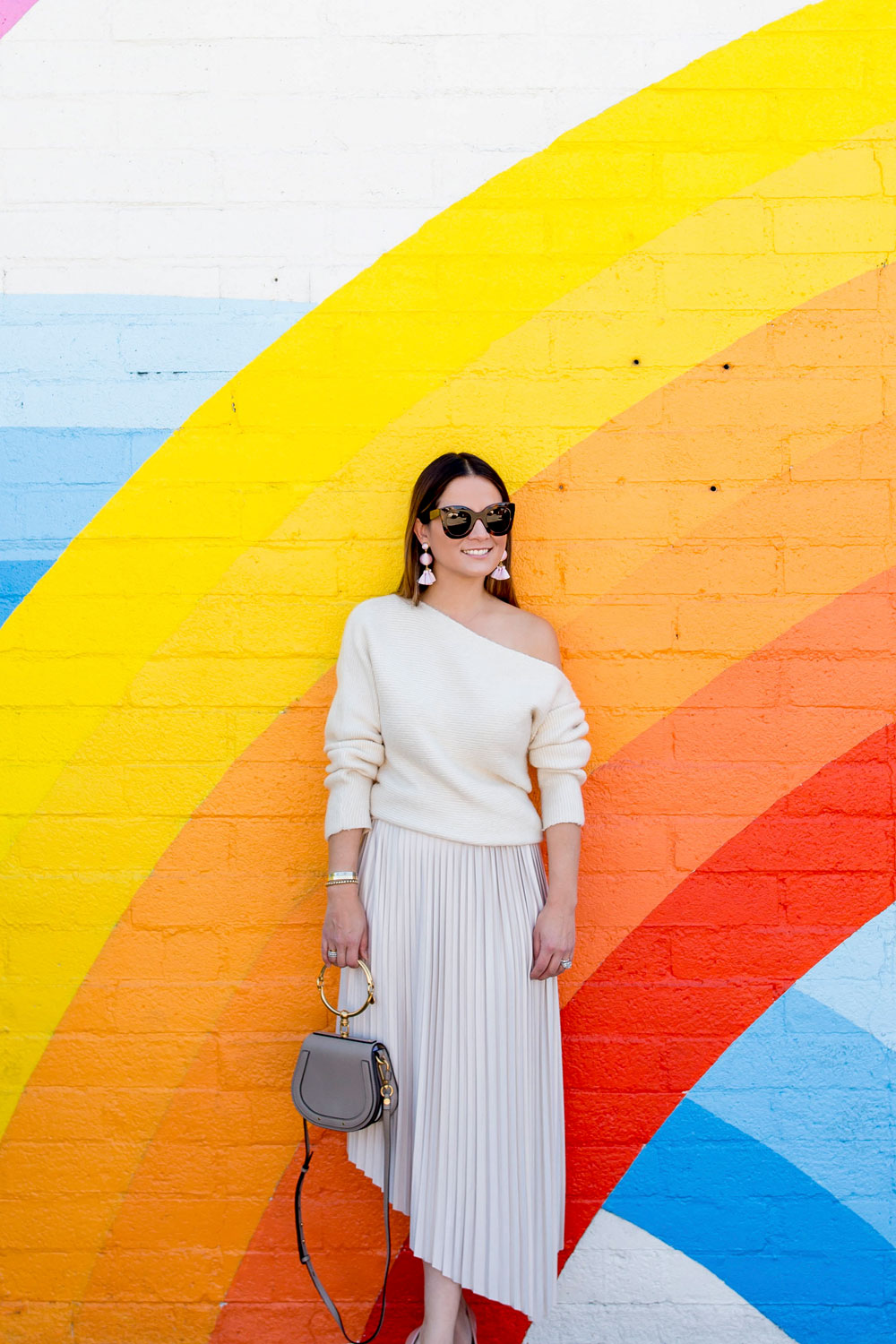 Nordstrom Beige Off Shoulder Sweater