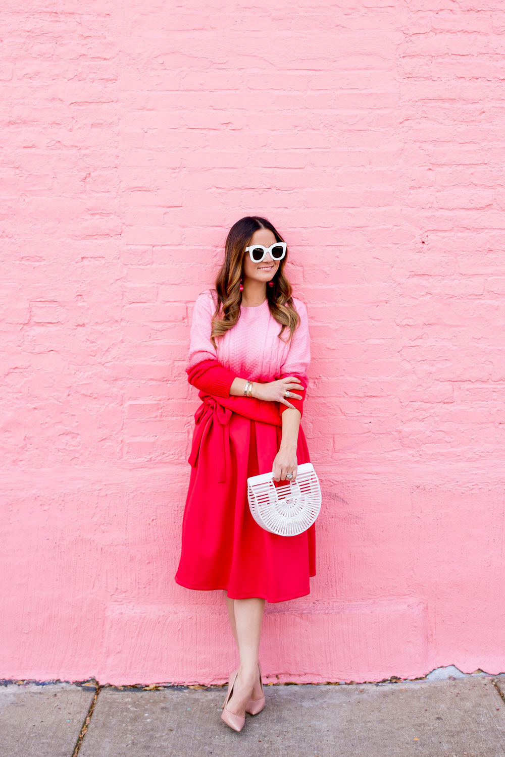 Pink Red Outfit Ideas