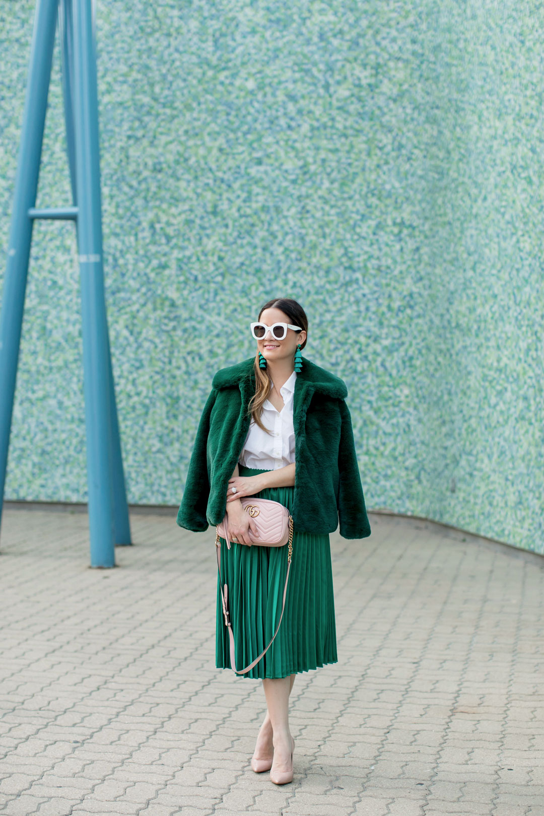 ASOS Green Faux Fur Jacket