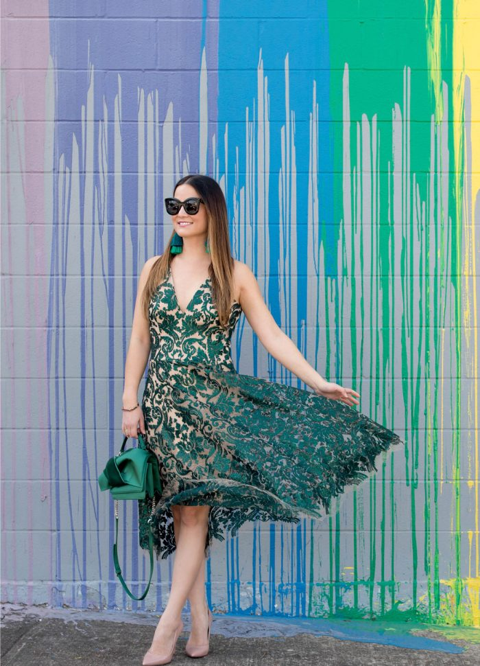 Emerald Green Sequin Fit and Flare Dress | Houston, Texas