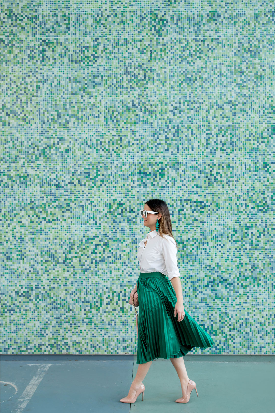 Houston Green Tile Wall