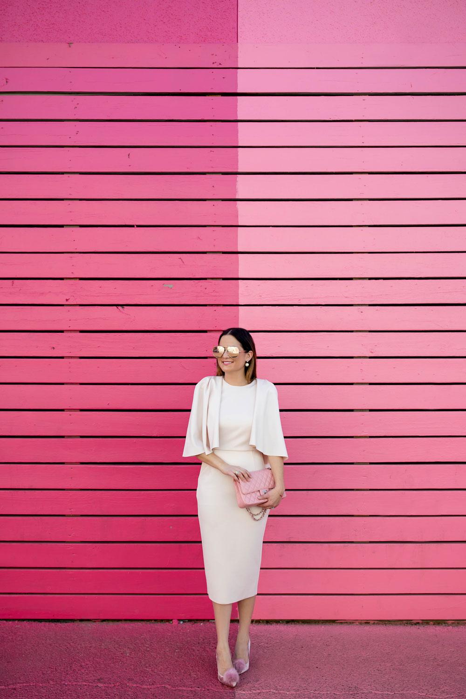 Houston Pink Stripe Wall