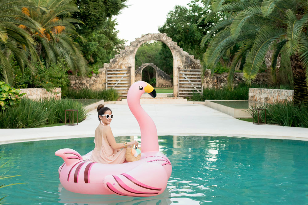 Jennifer Lake Pink Flamingo Pool Floatie