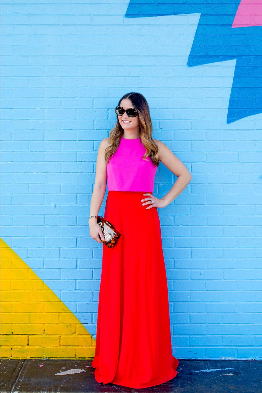 Jill Jil Stuart Colorblock Gown