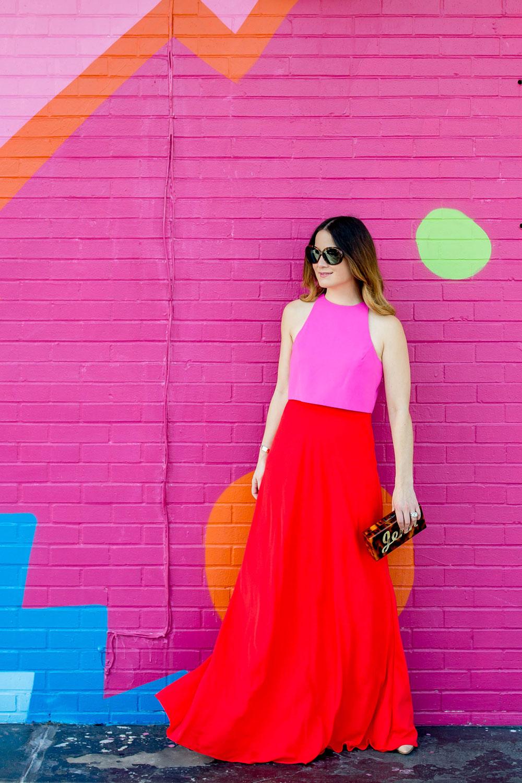 Jill Stuart Red Pink Gown