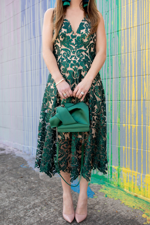No 21 Green Knot Bag