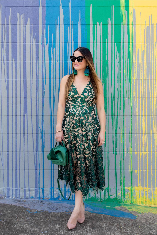 Nordstrom Green Sequin Dress