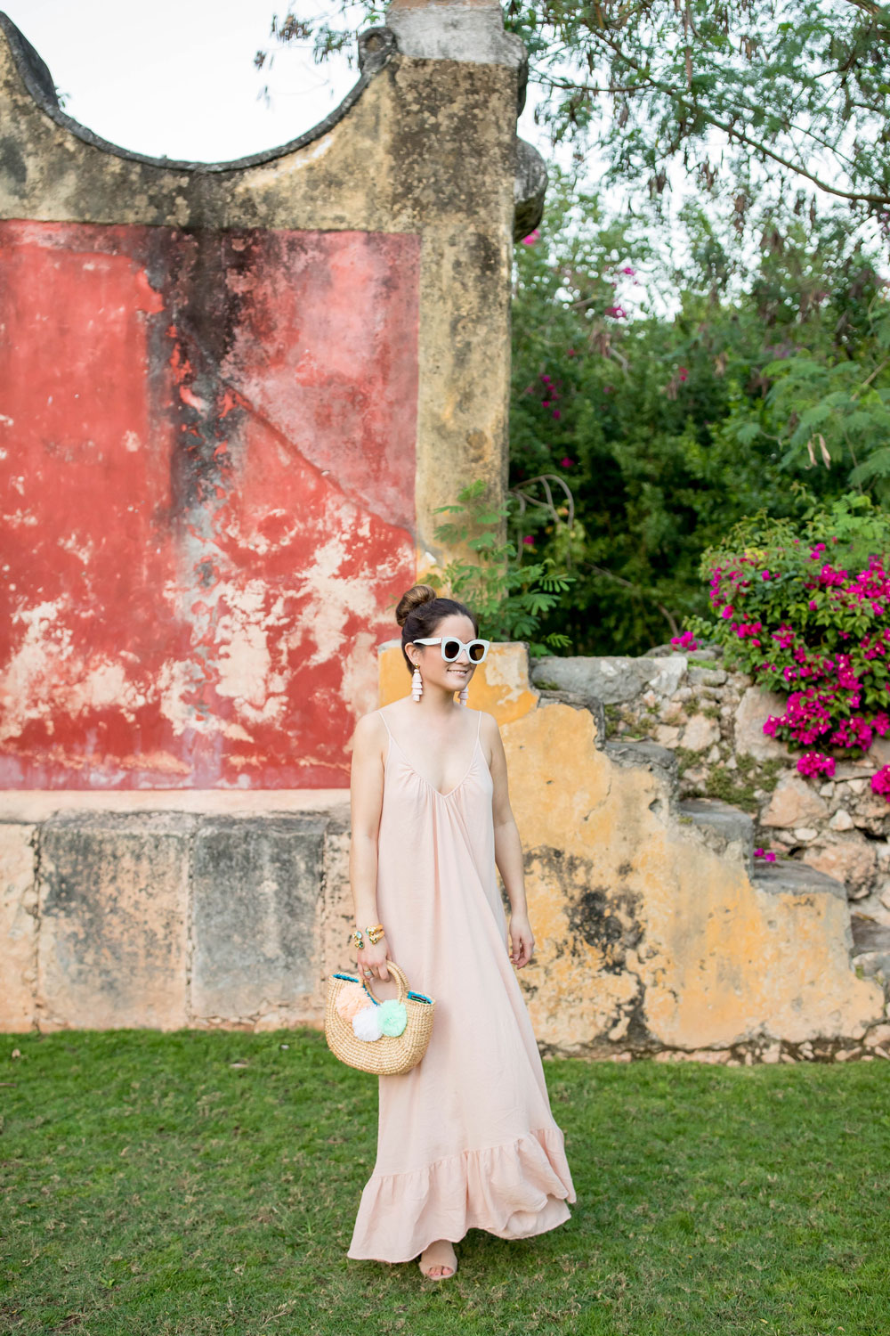 Pale Pink Cover Up Dress